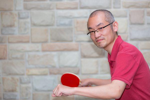 趣味は卓球です。
