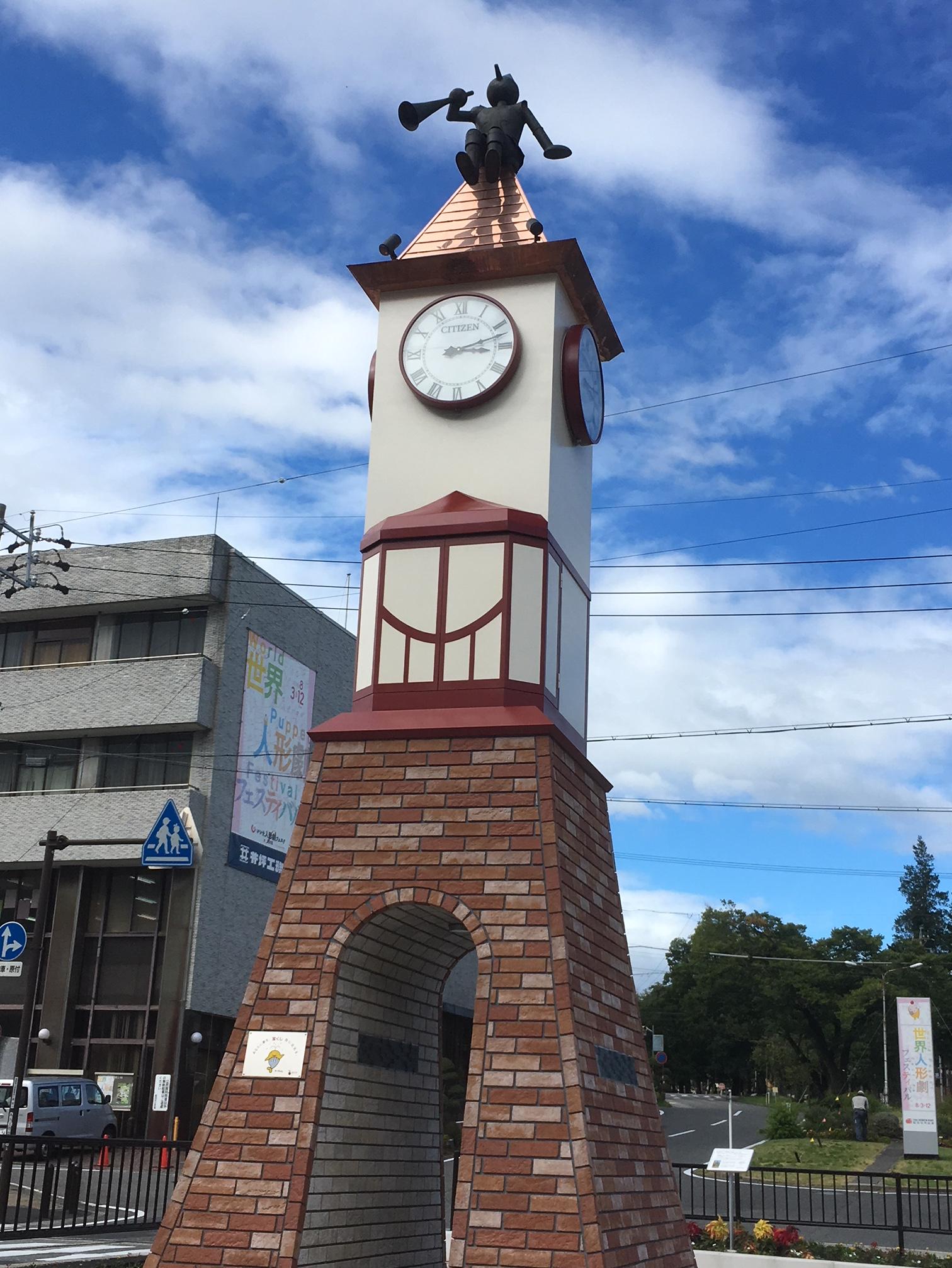 20180808飯田市時計台
