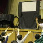 かすみがうら市立上佐谷小学校での公演の様子です。